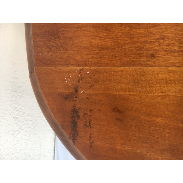 Small Miniature Drop Leaf Side Tables- a Pair Early 20th Century Vintage For Sale - Image 10 of 13