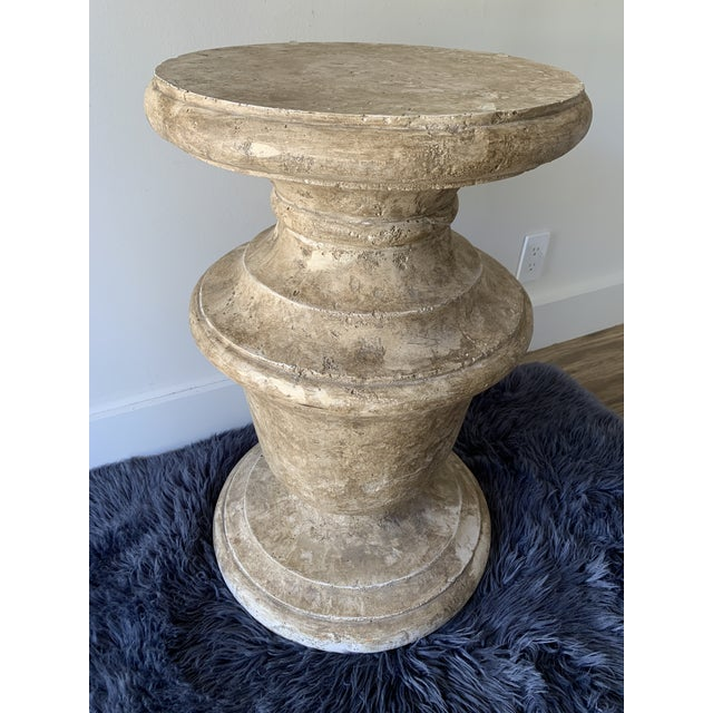 """1980s Plaster """"Stone"""" Baluster Center/Occasional Table Base For Sale - Image 12 of 12"""