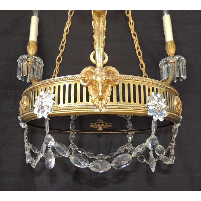 Gold 19th C French Régence Bronze Chandelier For Sale - Image 8 of 8