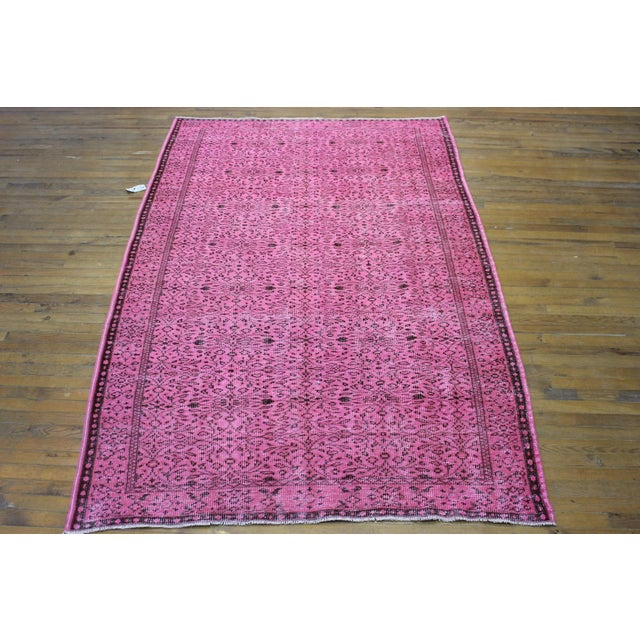 Pink handwoven in West Anatolia, circa 1940s. The colors have been naturally sunfaded, then overdyed with vegetal dyes....