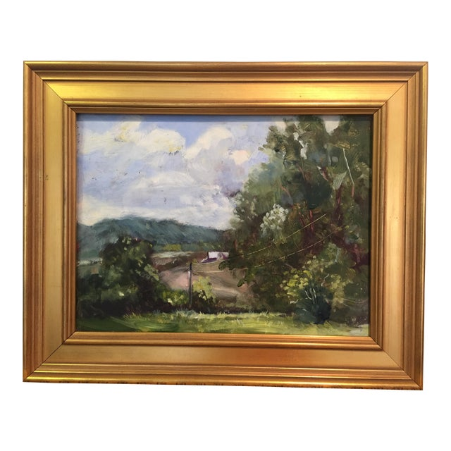Marina Movshina American Farm Barn Landscape Oil Painting For Sale