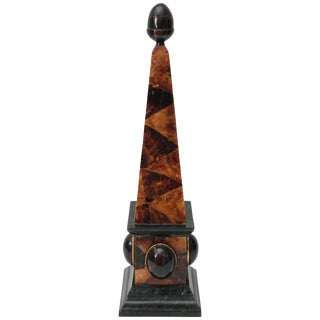 Maitland-Smith Pen Shell, Coconut Shell and Tessellated Marble Obelisk For Sale