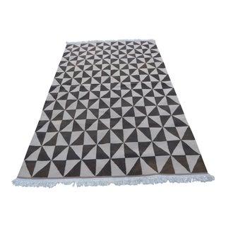 "21st Century Navajo-Style Kilim Carpet 4'3"" X 6'8"" For Sale"