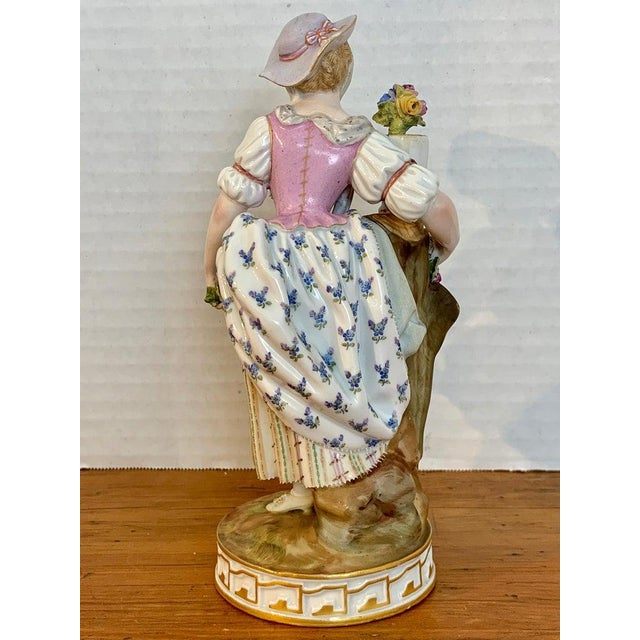 Fine Late 19th Century Meissen Figurine of a Lady Gardener For Sale - Image 11 of 13