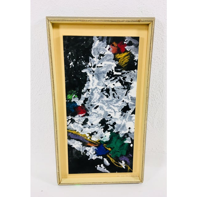 Paint Mid-Century Abstract Watercolor For Sale - Image 7 of 7