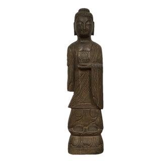 1900s Chinese Handcraft Stone Buddha Statuary