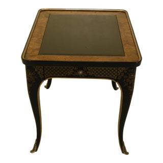 1980s Drexel Chinoiserie Decorated Glass Top Occasional Table For Sale