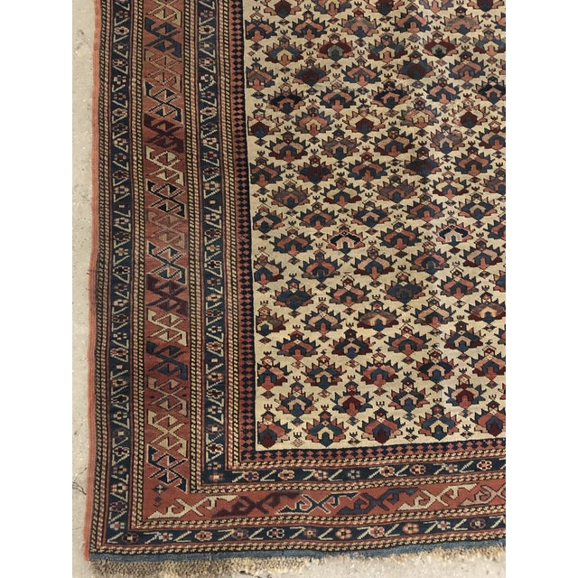 Late 19th Century Antique Caucasian Rug For Sale - Image 5 of 7