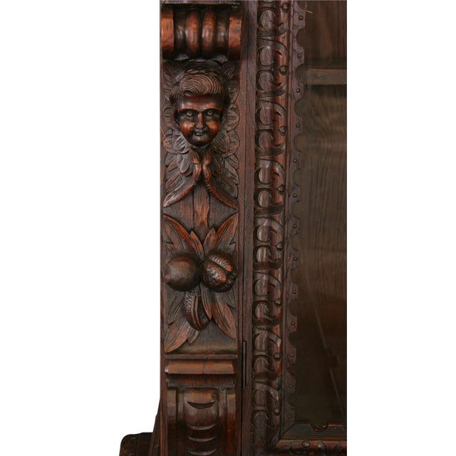 Antique French Buffet Hunting Style Cabinet - Image 7 of 8