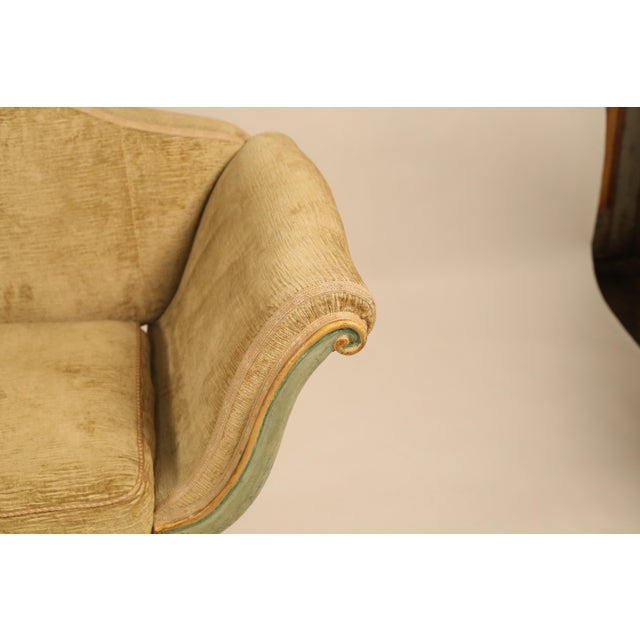 Mid 19th Century Antique Camelback Piedmont Sofa For Sale - Image 4 of 9