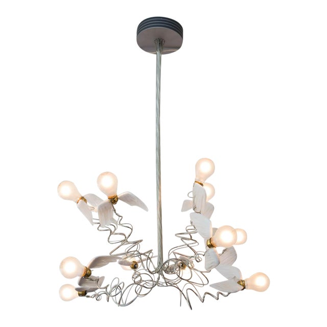 birdie chandelier by ingo maurer chairish. Black Bedroom Furniture Sets. Home Design Ideas