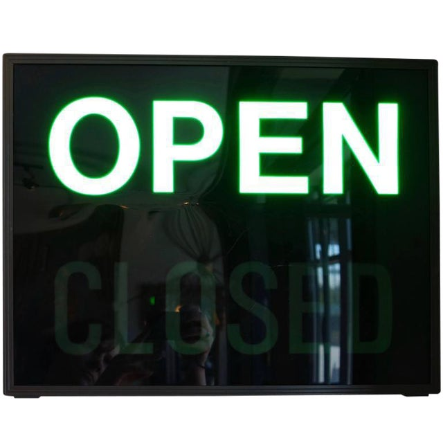 'Open / Closed' Illuminated LED Light Box, Circa 1980s - Image 1 of 6