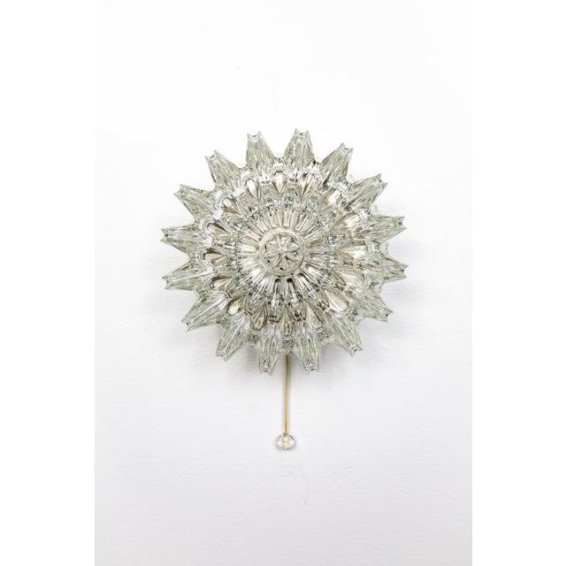 Glass 1960s Ornate Limburg Sunburst Sconce For Sale - Image 7 of 10