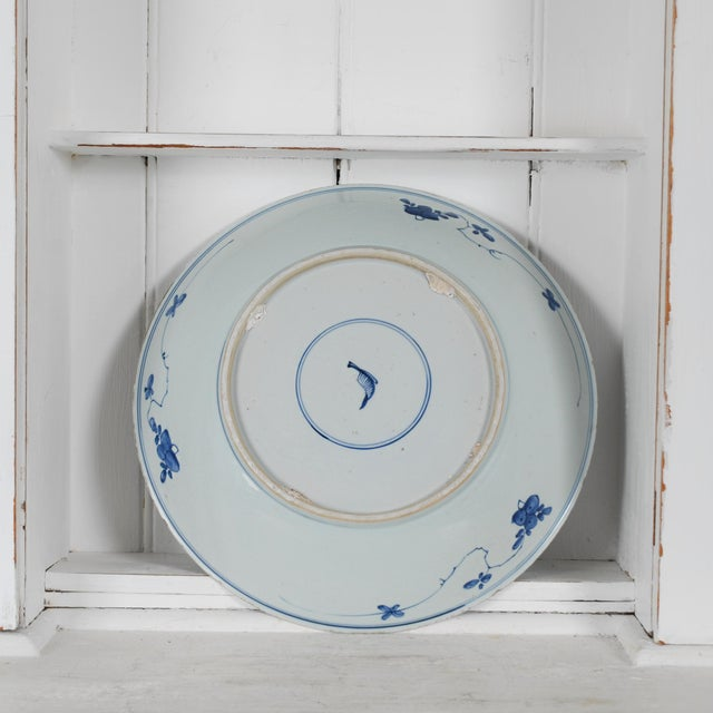 17th Century Antique Chinese Porcelain Blue and White Deep Charger Bowl Ceramic For Sale - Image 10 of 12