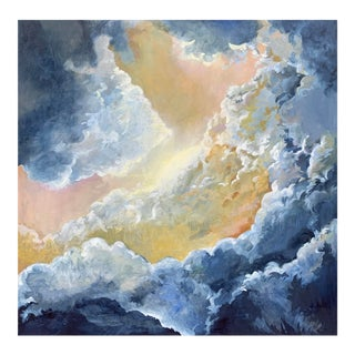 "Christine Elise ""Great Expectations"" Contemporary Sky and Cloud Oil Painting For Sale"