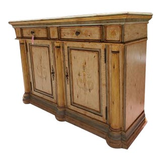Italian Artistica Curved Wooden Sideboard For Sale