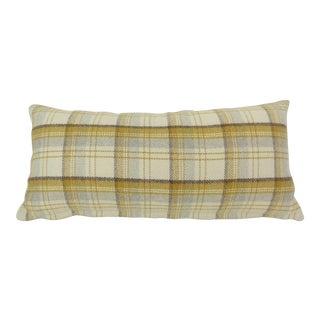Custom Plaid Flannel Kidney Pillow For Sale