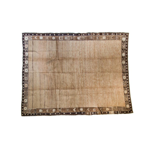 """Distressed Oushak Carpet - 7' X 9'1"""" For Sale"""