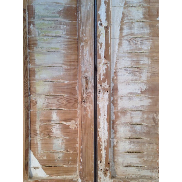 Rustic Arch Top Shutters - a Pair - Image 7 of 8