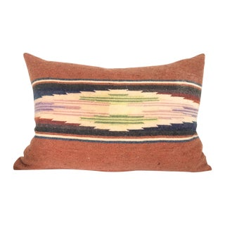 Sun Washed Rust Colored Vintage Saltillo Pillow