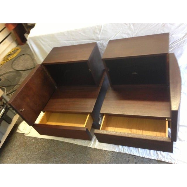 Mid-Century Wooden Bedside / End Tables - A Pair - Image 3 of 3