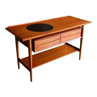 Mid Century Danish Modern Arne Vodder for Sibast Mobler Teak Console Table For Sale