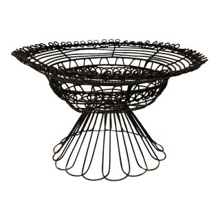 French Handmade Wire Fruit Bowl For Sale