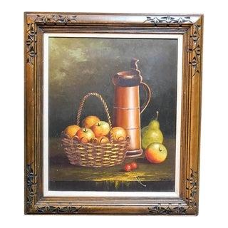 Framed Oil Still Life Painting For Sale