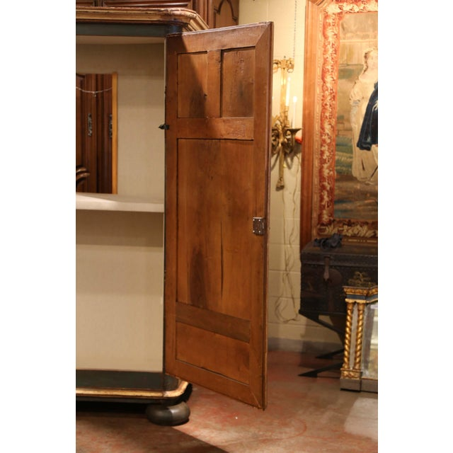 Beige Early 19th Century French Pine Two-Door Painted Armoire From Alsace-Lorraine For Sale - Image 8 of 13