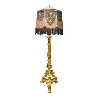1853-1902 Maison Millet Ormolu Bronze Floor Lamp For Sale