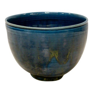 1950s Polia Pillin Blue Hi-Glaze Bowl