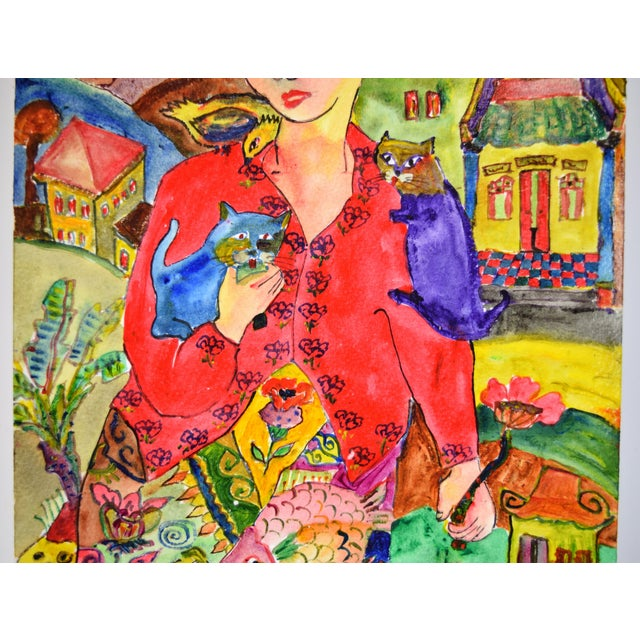 """Asian Original """"Young & Pretty"""" Mixed Media Painting by Martin Loh For Sale - Image 3 of 10"""