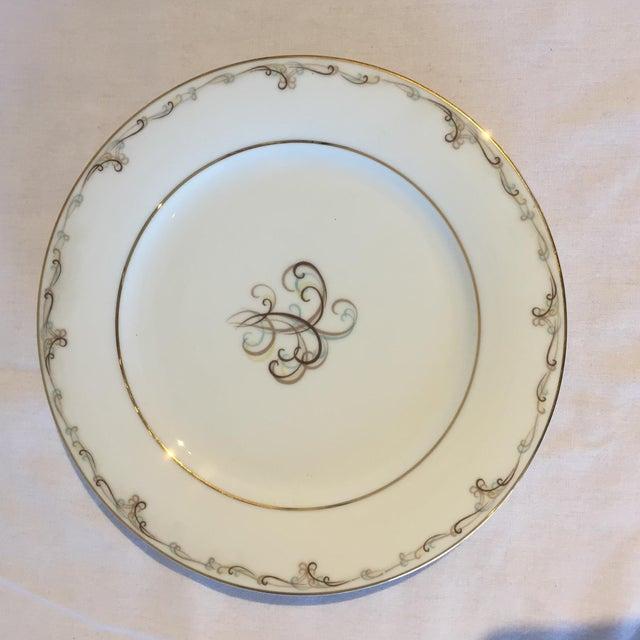 Noritake Esteem Gold Rimmed Plates - Set of 4 - Image 4 of 5