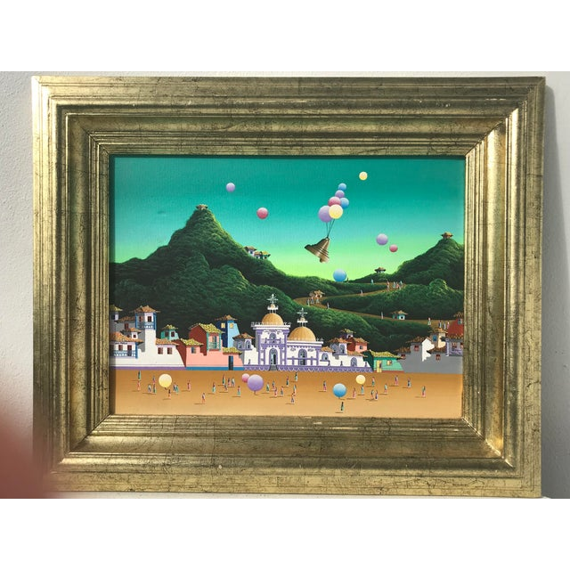 "Surrealism ""Landscape"" in Surrealist Style For Sale - Image 3 of 10"