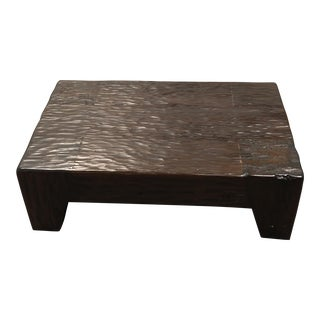 Pottery Barn Eucalyptus Coffee Table For Sale