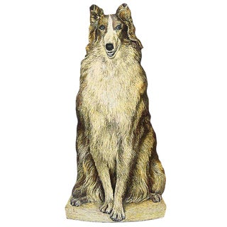 Piero Fornasetti, Umbrella Stand Representing a Collie Dog, Circa 1950 For Sale