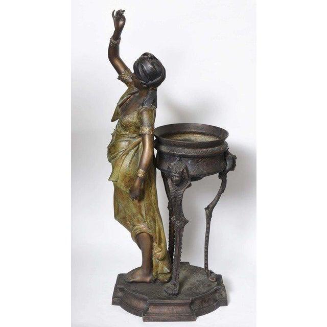 Bronze Orientalist Figural Floor Jardiniere by Peyre For Sale - Image 4 of 11