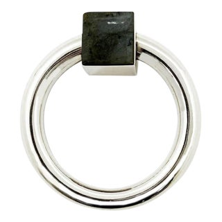 Addison Weeks Porter RIng Pull, Nickel & Labradorite For Sale