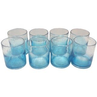 Blue Ombre Rock Glasses - Set of 8