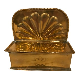 1950s Vintage Brass Letter Holder For Sale