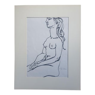 Edward Goldman Abstract Nude Print For Sale