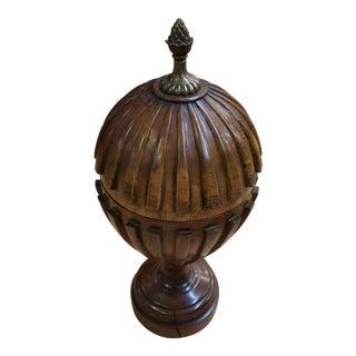 Maitland Smith Walnut Urn For Sale