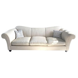 Final Markdown Barbara Barry for Baker Rounded-Arm Modern Sofa For Sale