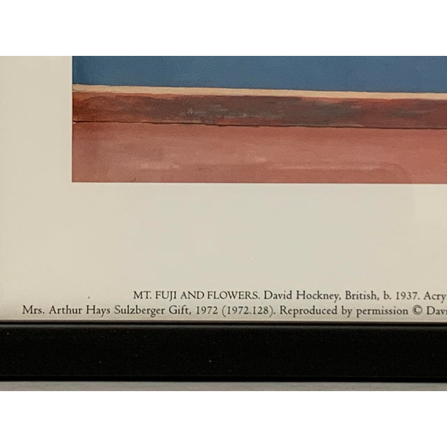 """Canvas Pop Art Framed Museum Lithograph """"Mount Fuji and Flowers"""" by David Hockney For Sale - Image 7 of 11"""
