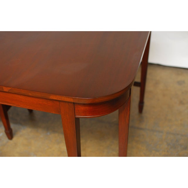 Hepplewhite Federal Double Leg Dining Table - Image 6 of 7