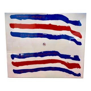 1976 Vintage Sister Mary Corita Kent Code Flag Signed Print For Sale