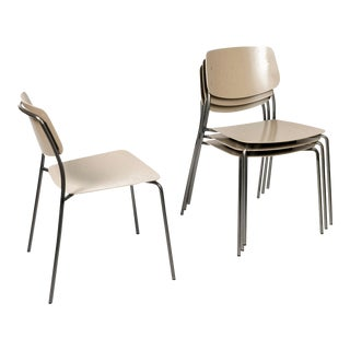 Dietiker Le Corbusier Tan Felber C18 Patio Chairs - Set of 4 For Sale