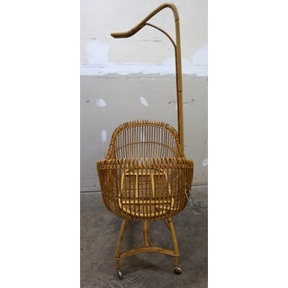 1950s Vintage Franco Albini Style Bamboo Cradle Preview