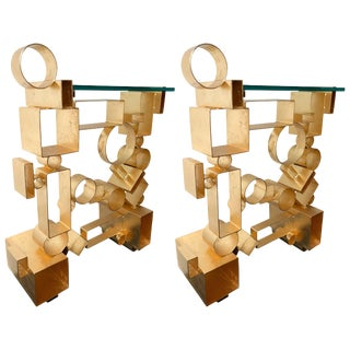 Contemporary Pair of Console Geometry by Antonio Cagianelli, Italy For Sale