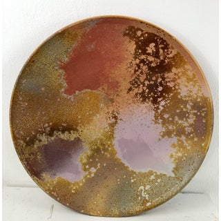 Tony Evans Raku Pottery Chargers - a Pair Preview